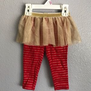 Other - Baby Girl Christmas Striped Leggings and Tutu